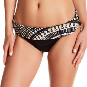 NWT Kenneth Cole NY Foldover Waist swim Bottom